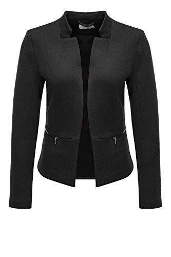 Only Damen Blazer Anzugjacke Business Jacke Jackett (S, Black)