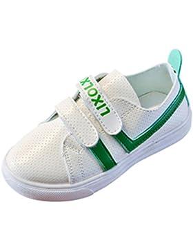 JIANGFU Flache Schuhe der Kinder Weiße Schuhe Sportschuhe, Baby Kinder Fashion Sneaker Kinder Jungen Mädchen Casual...