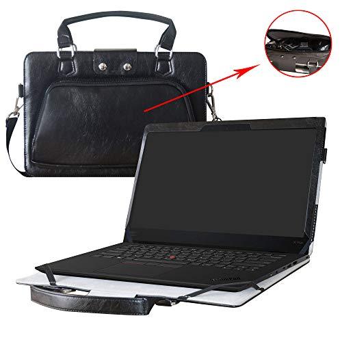 Thinkpad X1 Yoga Hülle,2 in 1 Spezielles Design eine PU Leder Schutzhülle + Portable Laptoptasche für 14