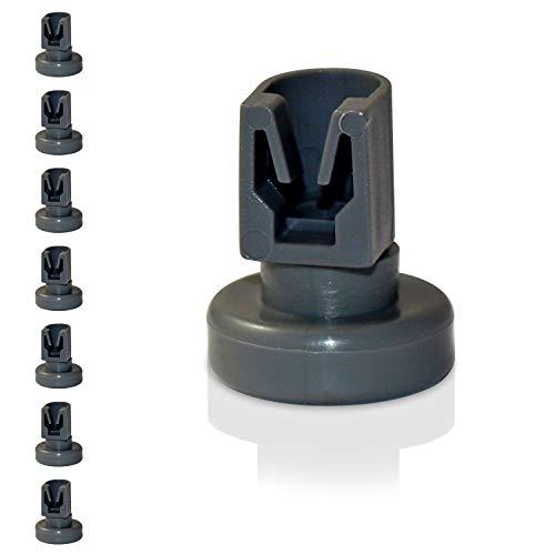 Universal Korbrollen für Spülmaschinen | 8 Stück Unterkorbrollen | geeignet für viele Spülmaschinen | 24 Monate Geld-Zurück Garantie! (Oberkorbrollen)