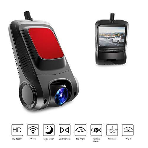 SSCJ Dash Cam GPS, WiFi-Dashboard-Kamera, Stealth-Full-HD-1080P-Dash-Kamera, 170 Grad Weitwinkel 2