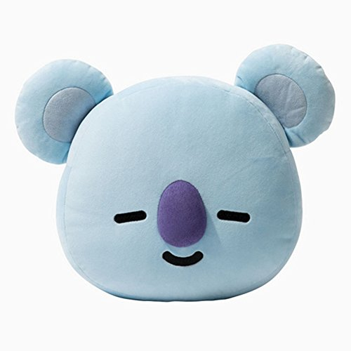 Leoie BTS BT21 Cute Cartoon Plush Doll TATA Cooky CHIMMY SHOOKY MANG Van Toys Bolster Throw Pillow Cushion Gifts for Children(KOYA)