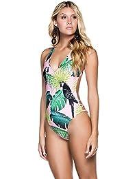 3404e2ba0b0715 MRULIC Sexy Women's One Piece Sunbathing Bikini Push-Up Padded Swimwear  Swimsuit Bathing Suit Valentine's
