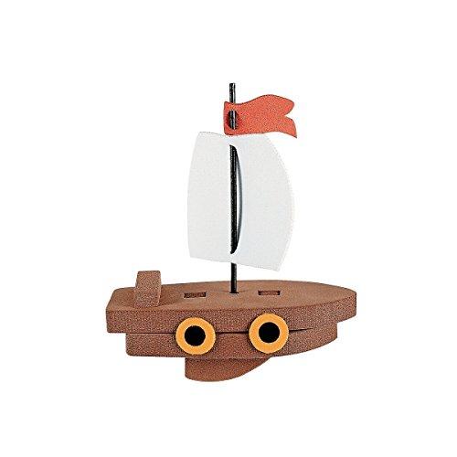6 x Schiff Segelboot 3D Piratenschiff Piraten Seeräuber Boot Moosgummi Bausatz Mitgebsel Geburtstag Giveaway