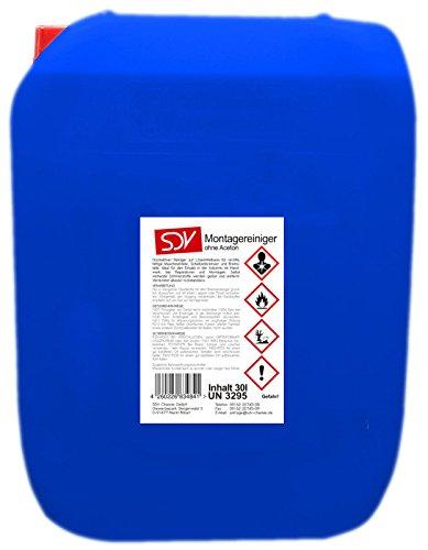 MONTAGEREINIGER 30 Liter - Entfetter, Bremsenreiniger, verdunstet rückstandsfrei