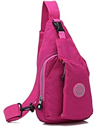 Pink : Kolylong Fashion Women Handbag Shoulder Bag Large Tote Ladies Chest Pack Bag Climbing Bag (Pink)