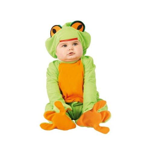 Guirca Kostüm Neonrana Ranocchio 1/12 Monate, Farbe Grün und Orange Nosize, FG81096