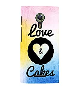 EPICCASE cake of love Mobile Back Case Cover For Alcatel One Touch Flash 2 (Designer Case)