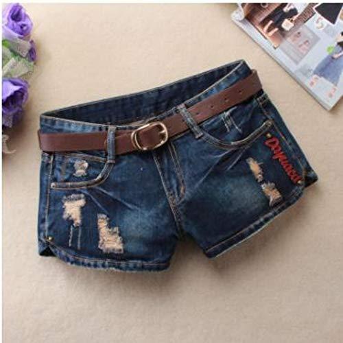 NSDKFF Pantalones Cortos De Mujer Summer Denim Shorts