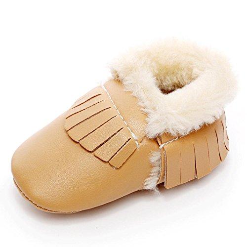 Baby Girl / Jovens Walker Sapatos-omiky® 0-18 Mês Meninos De Algodão Menina Do Inverno Crianças Sapatos De Couro Amarelo Quente