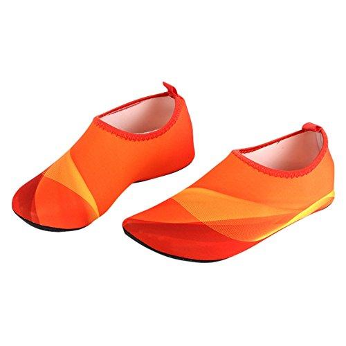 Streifen Barfuß Aqua Schuhe Wasser Schuhe, Wingbind Haut Shose Quick Dry Strand Tauchen Surfen Bootfahren Pool Schwimmen Schuhe für Frauen Männer Erwachsene Kleinkind (Streifen Bootfahren)