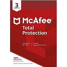 McAfee Total Protection 2020   3 Dispositivo   1 Usuario   12 Meses   PC/Mac/Android/Smartphones   Código de activación enviado por email