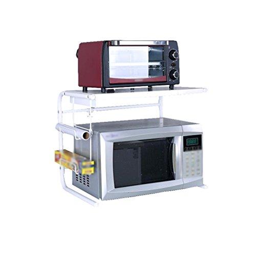 MyYztsj-kitchen rack Étagère de Cuisine Extensible en Acier Inoxydable réglable à 2 Niveaux, Blanc, Support de Four à Micro-Ondes au Sol, Support de Rangement pour cuiseur à Riz