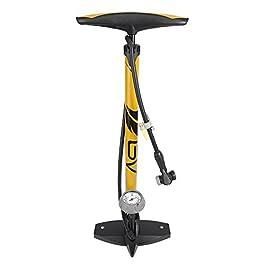 BV pompa ergonomica per biciclette, da pavimento, con manometro e attacco intelligente per valvole, 160psi, passa automaticamente da Presta a Schrader