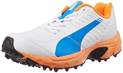Puma Men's Illuminate Dp Electric Blue Lemonade-White Cricket Shoes - 10 UK