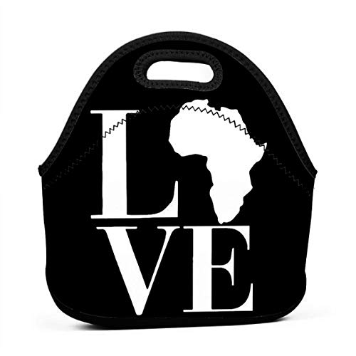Bidetu Love Africa Original Lunch Box Insulated Lunch Bag - Tough & Spacious Adult Lunchbox to Seize Your Day