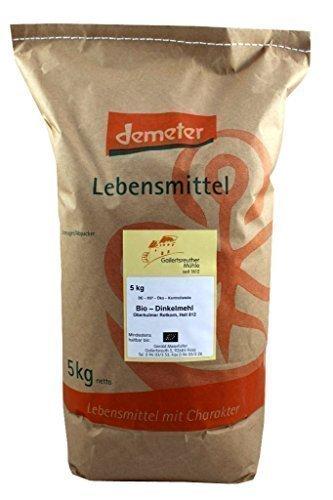 Bio-Dinkelmehl hell Demeter 2x5kg Type 812 Premium Qualität
