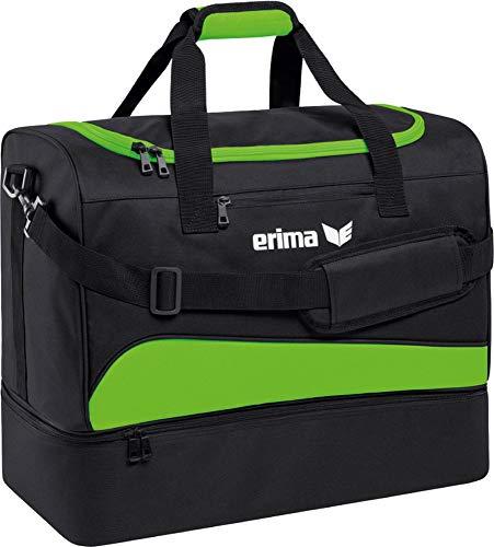 Erima Sporttasche mit Bodenfach Club 1900 2.0, Green Gecko/Schwarz, L, 60x33x45 cm, 89 Liter