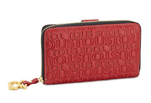 Tous Amanda Logo, Cartera Mujer, Rojo 695934195, 18x11x2.5