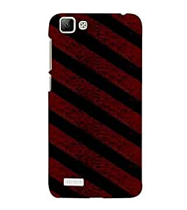 Pattern, Black, Background, Lovely Pattern, Printed Designer Back Case Cover for Vivo V1