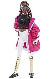 Barbie Collector, muñeca total look deportivo Puma con zapatillas rosas y blancas (Mattel FJH70)