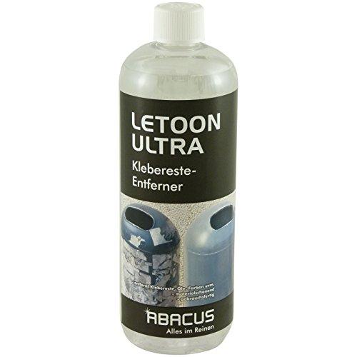ABACUS LETOON Ultra 1000 ml (2207) - Kleberesteentferner Etikettenentferner Kaltentfetter Lösemittel Lösungsmittel Ölentferner Farbentferner Lippenstiftentferner Kosmetikentferner Tintenentferner