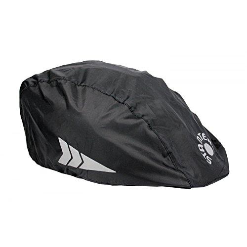 STANTEKS Helm Regenüberzug Universal Regenschutz für Fahrradhelme Regenkappe Schutzbezug (schwarz)