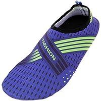 MagiDeal 1 Par Hombres Mujeres Zapatos de Agua Zapatos de Natación Descalzos Playa Calcetines Agua - 35-36