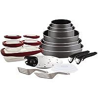 Tefal L2049102 Set de poêles et casseroles - Ingenio 5 Essential Gris Anthracite 20 Pièces - Tous feux sauf induction
