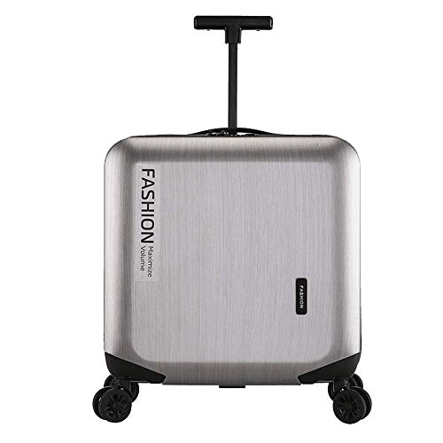 YUNY Business Koffer ABS Hartschale 18 Zoll 20 Zoll Koffer 4-Rad rotierenden Koffer -Silver-XL(24in) - 100l Hard Case