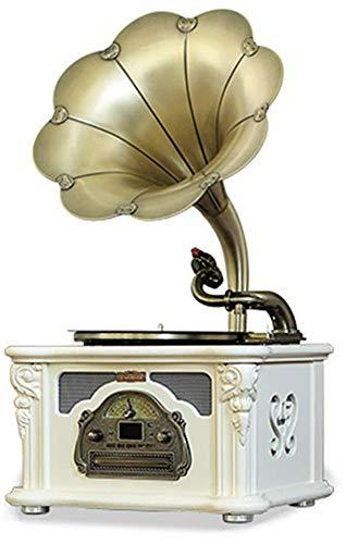 MUSIC Estilo de gramófono Antiguo Voz Nostalgia Retro con Altavoces estéreo •...