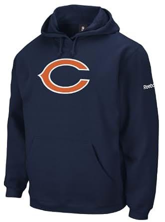NFL REEBOK CHICAGO BEARS AMERICAN FOOTBALL PLAYBOOK HOODIE IN NAVY BLUE (SMALL)