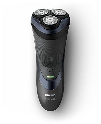 Philips series 3000 rasoio elettrico per rasatura a secco con lame comfortcut, testina flessibile a 4 direzioni e 50 minuti di uso senza filo, s3530/06