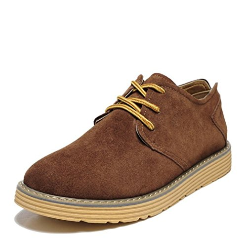 Heart&M casual en cuir suédé cuir chaussures Brown