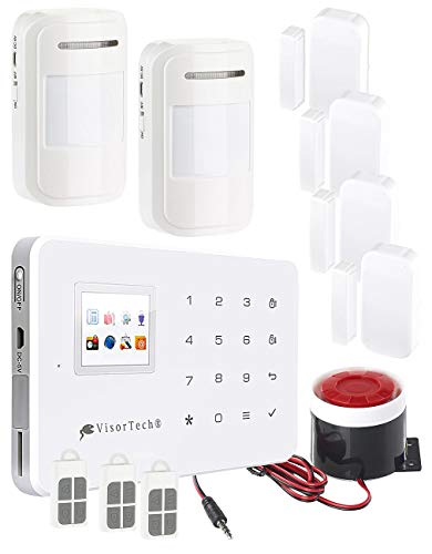 VisorTech Alarmanlage Haus: GSM-Alarmanlage mit Funk-/Handy-Anbindung, 11-teiliges Starter-Set (Kabellose Alarmanlage)