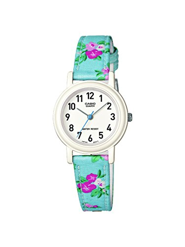 CASIO Childrens Quartz Watch with White Dial Analogue Display and Multicolour Other Strap LQ-139LB-2B2ER