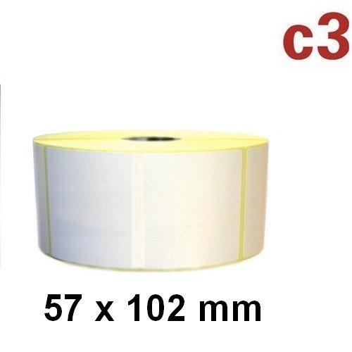 57x102 mm ThermoEtiketten Rolle à 700 Etiketten Zebra TLP 2824 LP2824 plus ,Citizen,Intermec, TEC