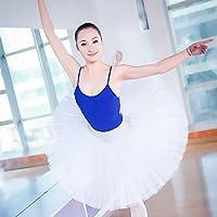Raptas (TM) professionale adulto Girls Ballet Dance tutu hard Organdy Platter Skirt ballerina tutù per donne, White, large