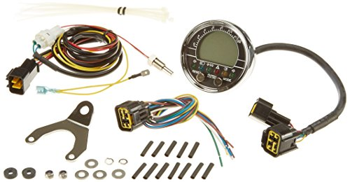 Acewell ACE-2901 Motorrad und Quad / ATV Drehzahlmesser mit Temperaturanzeige und 6 Kontrollleuchte