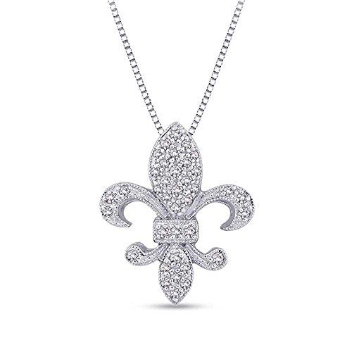 silvernshine-jewels-18-ct-weiss-sim-diamant-fleur-de-lis-anhanger-aus-14k-weissgold-pl-mit-18-kette