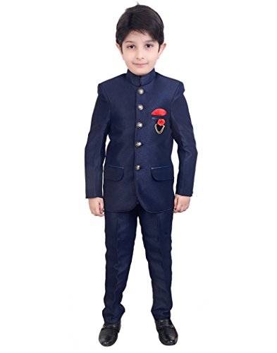 Arshia Fashions Boys Jodhpuri Coat Suit with Shirt and Pant set -...