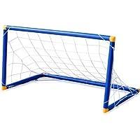 TRIXES enfants Childs Mini Football Soccer Goal Post Net Set Pump balle de plein air intérieur