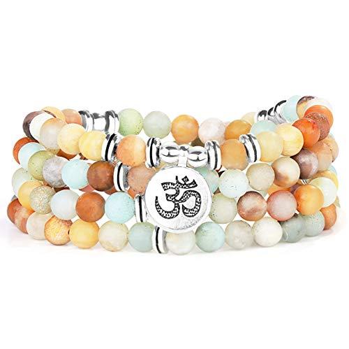sailimue 108 Mala Beads Bracelet for Women Girls Tibetan Buddhist Bracelet with Tree of Life Pendant Bracelet Gift with Box ...