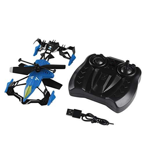 Banbie8409 Quadcopter Car Toys 2 en 1 Air-Ground Flying Car RC Drone Quadcopter 3D Flip (azul)