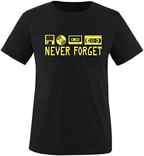 EZYshirt® Ich Irre ? Vielleicht sollte ich mal von meinem Einhorn steigen und dir eine knallen Crew-Neck T-Shirt Schwarz/Gelb