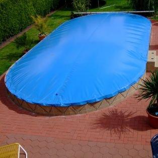 Aufblasbare Abdeckung oval 620 x 350 cm für Pool und Schwimmbad