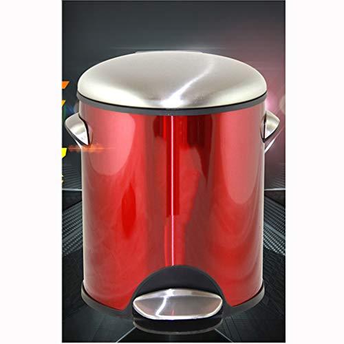al Müll Haus Küche Schlafzimmer Badezimmer Doppelschicht Mülleimer -7L Multi-Color optional Mülleimer (Farbe : Rot, größe : 7L) ()