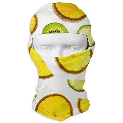 Wfispiy Orange Zitronen-Kiwi-Muster-Multifunktionsvollgesichtsmaske atmungsaktiv für Sun Wind Dust Bandana