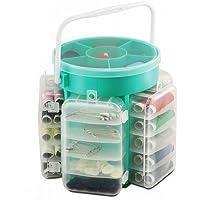 Ukayed ® - Set da cucito da 210 pezzi, con bottoni, fili, aghi e spilli - Cucire Caddy