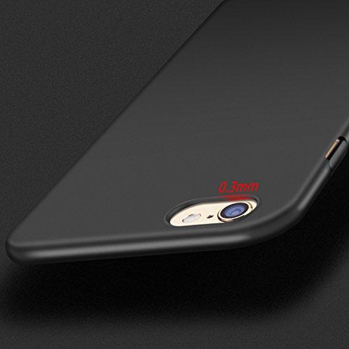 Coque iPhone 6S Coque iPhone 6 , TORRAS Ultra Fine Case avec [Plein Ecran en Verre Trempé Protecteur], Anti-Rayures Mince Protection Cover pour Apple iPhone 6/6S - Space Black Noir